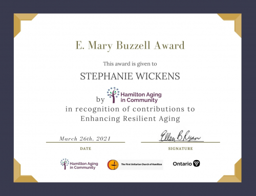 HAC presents Mary Buzzell Award for Resilient Aging